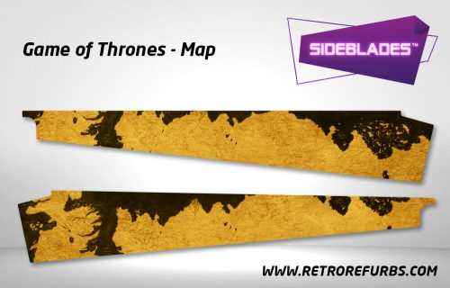 Game of Thrones Map Pinball Side Blades Inside Art Flipper Pin Blades