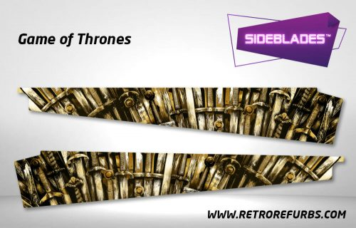 Game of Thrones Pinball Side Blades Inside Art Flipper Pin Blades