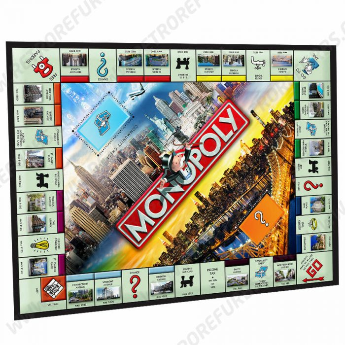 Monopoly Alternate Pinball Translite Alternative Stern Flipper Backglass