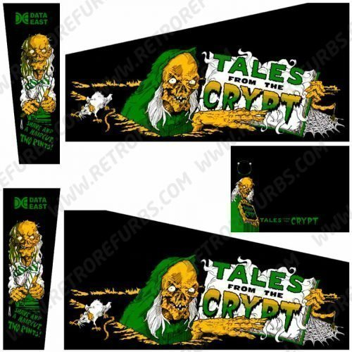 Tales From The Crypt Green Edition Pinball Cabinet Decals Flipper Side Art
