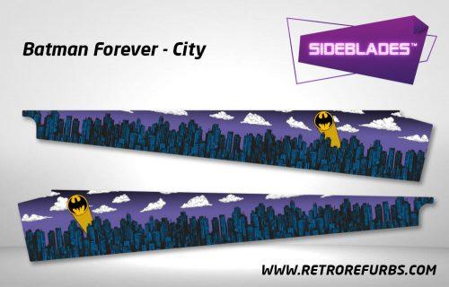 Batman Forever City Pinball SideBlades Inner Inside Art Pin Blades Sega