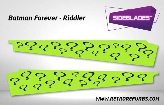Batman Forever Riddler Pinball SideBlades Inner Inside Art Pin Blades Sega