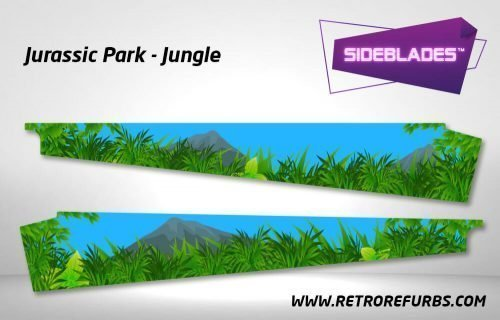 Jurassic Park Jungle Pinball SideBlades Inner Inside Art Pin Blades Data East