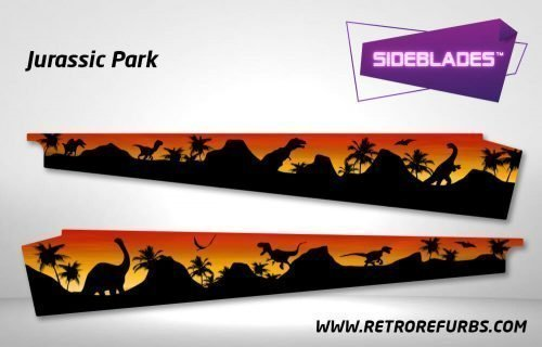 Jurassic Park Pinball SideBlades Inner Inside Art Pin Blades Data East