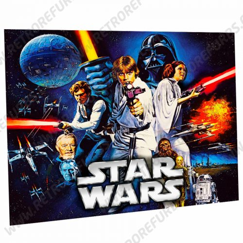 Star Wars Data East Alternate Pinball Translite Alternative Flipper Backglass