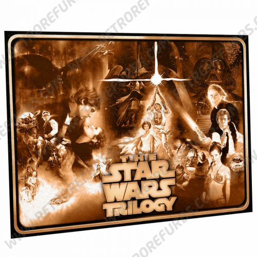 Star Wars Trilogy Sepia Alternate Pinball Translite Alternative Flipper Backglass