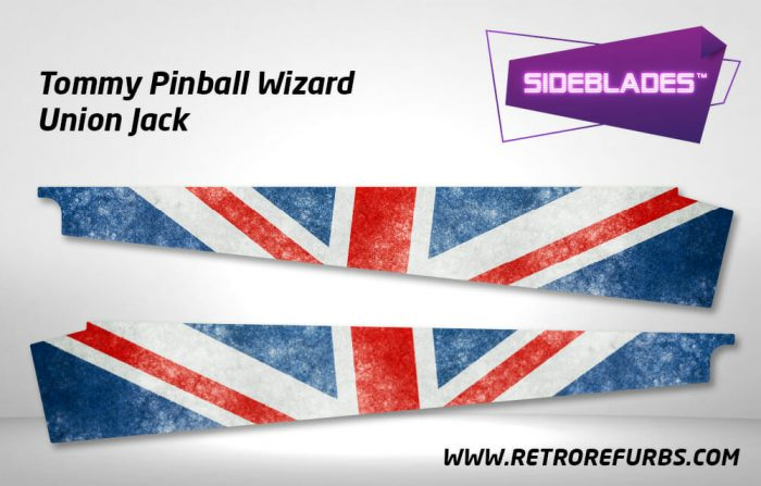 The Who's Tommy Pinball Wizard Union Jack Pinball SideBlades Inner Inside Art Pin Blades Data East