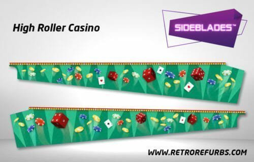 High Roller Casino Pinball SideBlades Inside Decals Sideboard Art Pin Blades