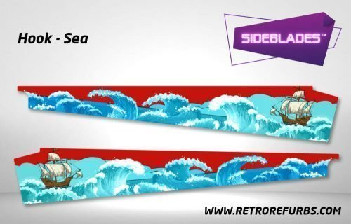 Hook Sea Pinball SideBlades Inner Inside Art Pin Blades Data East
