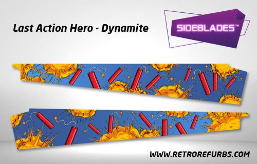 Last Action Hero Dynamite Pinball SideBlades Inner Inside Art Pin Blades Data East