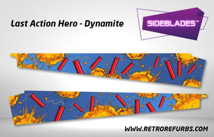 Last Action Hero Dynamite Pinball SideBlades Inner Inside Art Pin Blades Data East