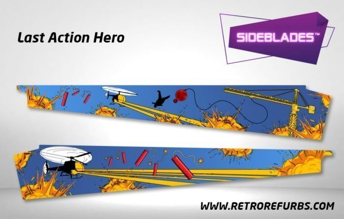 Last Action Hero Pinball SideBlades Inner Inside Art Pin Blades Data East