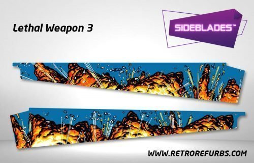 Lethal Weapon 3 Pinball SideBlades Inner Inside Art Pin Blades Data East