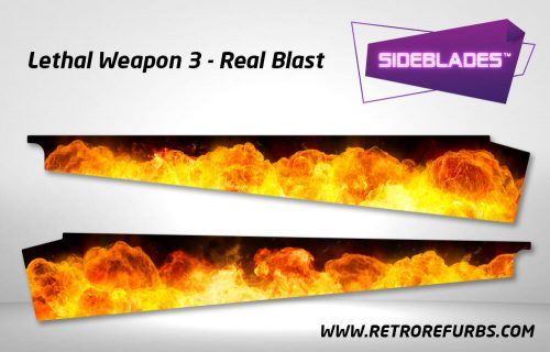 Lethal Weapon 3 Real Blast Pinball SideBlades Inner Inside Art Pin Blades Data East