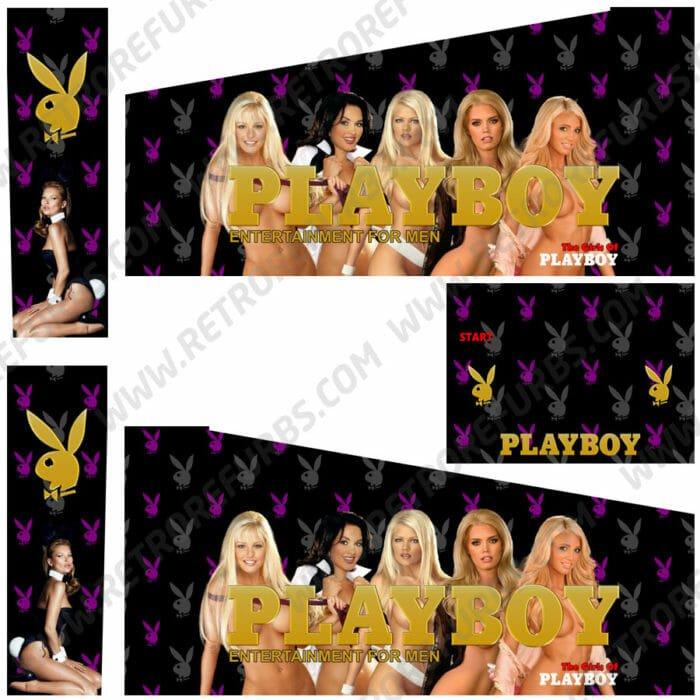Playboy Pinball Cabinet Decals Custom Side Art Alternate Flipper Artwork