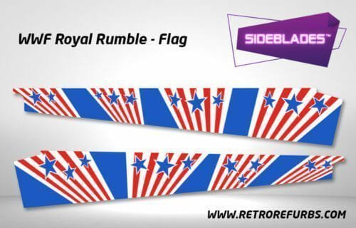 WWF Royal Rumble Flag Pinball SideBlades Inner Inside Art Pin Blades Data East
