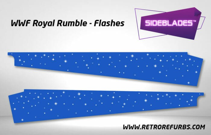 WWF Royal Rumble Flashes Pinball SideBlades Inner Inside Art Pin Blades Data East
