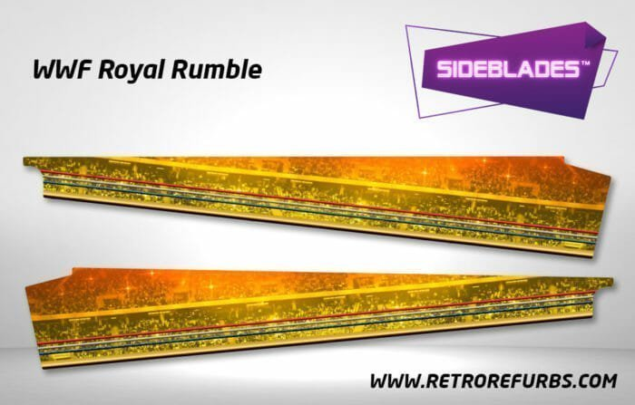 WWF Royal Rumble Pinball SideBlades Inner Inside Art Pin Blades Data East