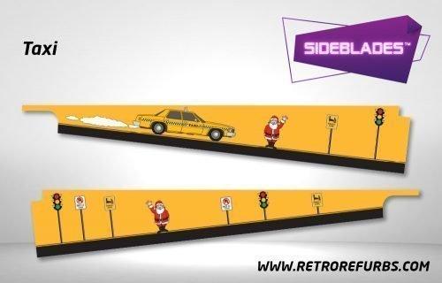 Taxi Pinball Sideblades Inside Inner Art Decals Sideboard Art Pin Blades