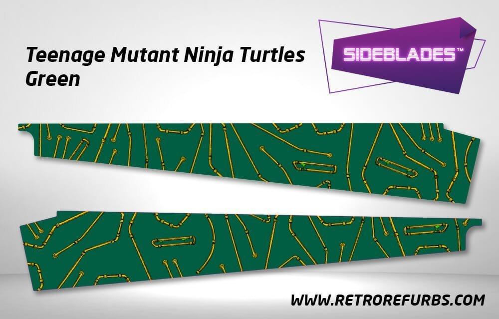 Teenage Mutant Ninja Turtles Green Pinball SideBlades Inner Inside Art Pin Blades Data East