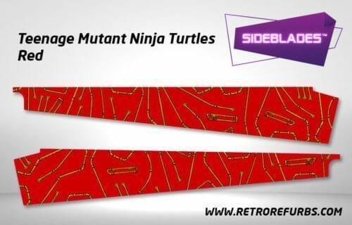 Teenage Mutant Ninja Turtles Red Pinball SideBlades Inner Inside Art Pin Blades Data East