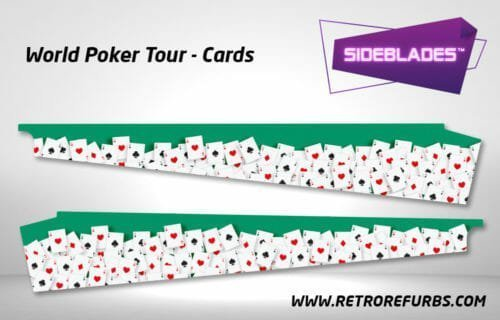 World Poker Tour Cards Pinball SideBlades Inside Decals Sideboard Art Pin Blades