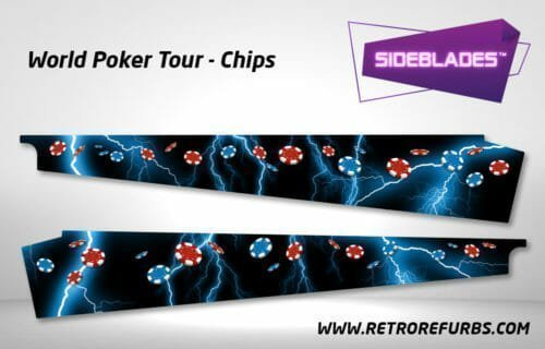 World Poker Tour Chips Pinball SideBlades Inside Decals Sideboard Art Pin Blades