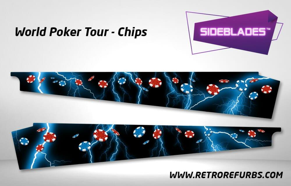 World Poker Tour Chips Pinball SideBlades Inside Decals Sideboard Art Pin Blades