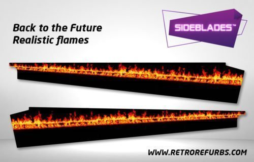 Back To The Future Realistic Flames SideBlades Inner Inside Art Pin Blades Data East