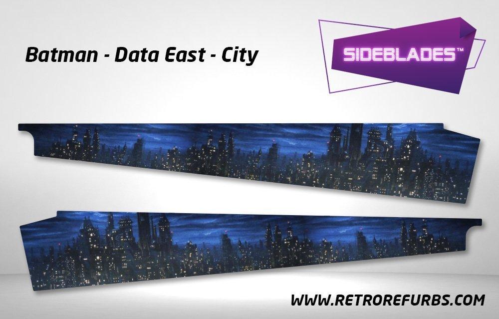 Batman Gotham City Pinball SideBlades Inner Inside Art Pin Blades Data East