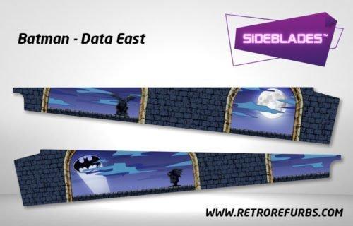 Batman Pinball SideBlades Inner Inside Art Pin Blades Data East