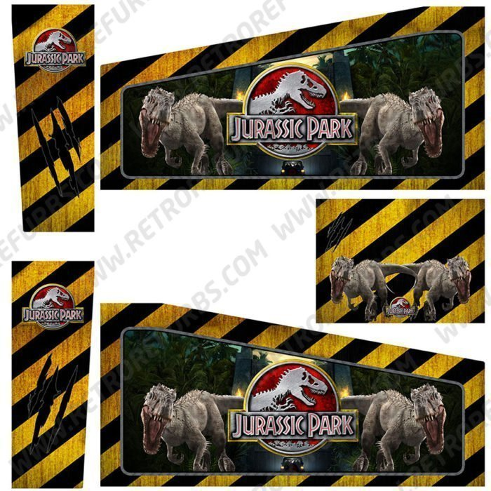Jurassic Park Alternate Pinball Cabinet Decals Artwork Alternative Flipper Side Art