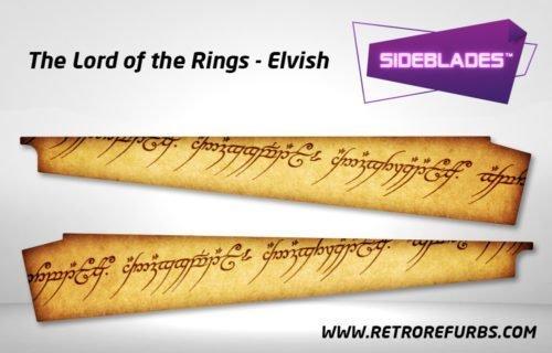 Lord of The Rings Elvish Pinball SideBlades Inner Inside Art Pin Blades Stern