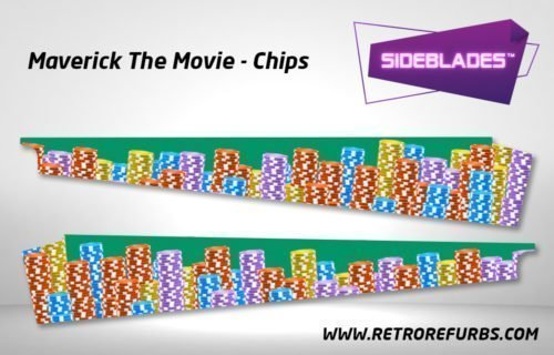 Maverick Chips SideBlades Inner Inside Art Pin Blades Data East