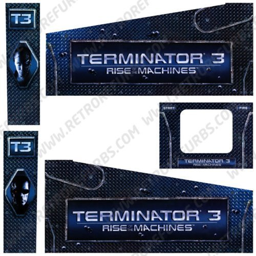 Terminator 3 Rise of The Machines Pinball Cabinet Decals Flipper Side Art Stern
