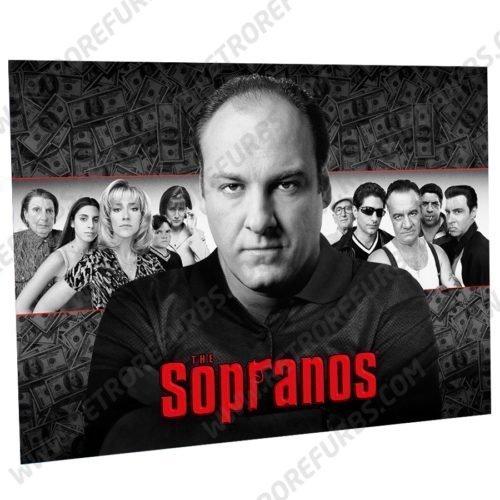 The Sopranos Money Black & White Alternate Pinball Translite Alternative Flipper Backglass