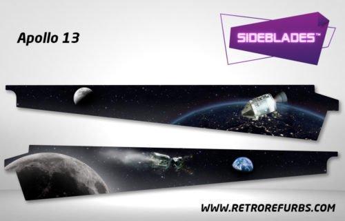 Apollo 13 Pinball SideBlades Inner Inside Art Pin Blades Sega
