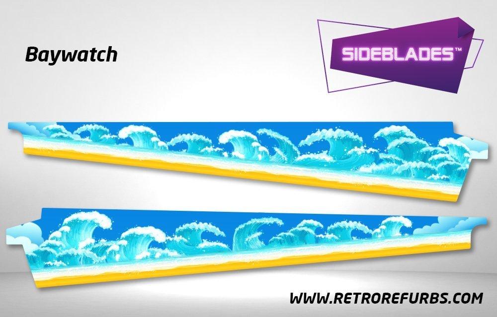 Baywatch Pinball SideBlades Inner Inside Art Pin Blades Sega
