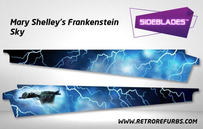 Frankenstein Sky Pinball SideBlades Inner Inside Art Pin Blades Sega
