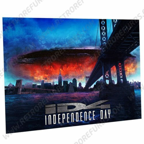 Independence Day Blue Alternate Pinball Translite Alternative Flipper Backglass