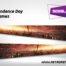 Independence Day City Flames Pinball SideBlades Inner Inside Art Pin Blades Sega