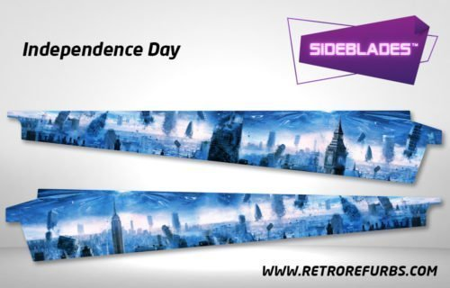 Independence Day Pinball SideBlades Inner Inside Art Pin Blades Sega