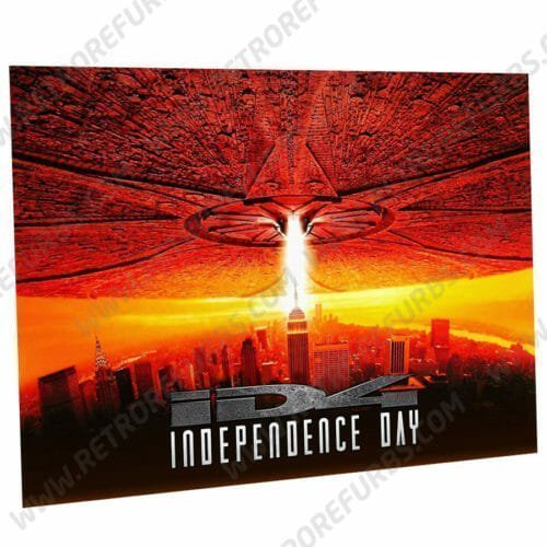 Independence Day Red Alternate Pinball Translite Alternative Flipper Backglass