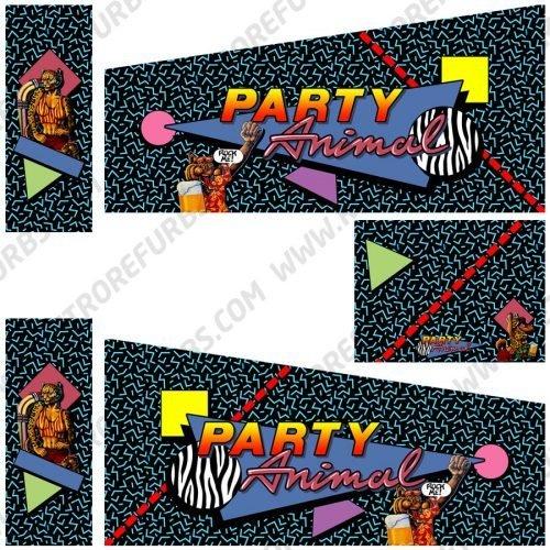 Party Animal Alternate Pinball Cabinet Decals Artwork Alternative Flipper Side Art