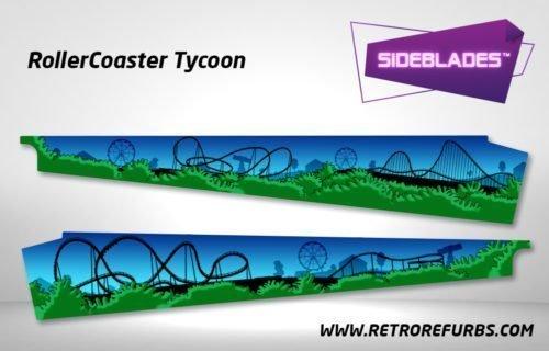 RollerCoaster Tycoon Pinball SideBlades Inside Decals Sideboard Art Pin Blades