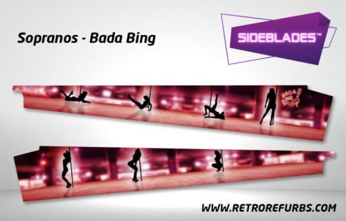 The Sopranos Badabing Pinball SideBlades Inside Decals Sideboard Art Pin Blades