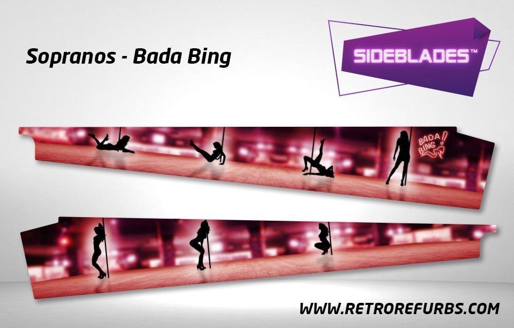 The Sopranos Badabing Pinball Sideblades Retro Refurbs