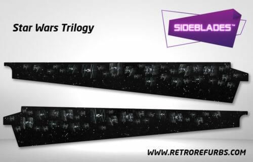 Star Wars Trilogy Pinball SideBlades Inner Inside Art Pin Blades Sega