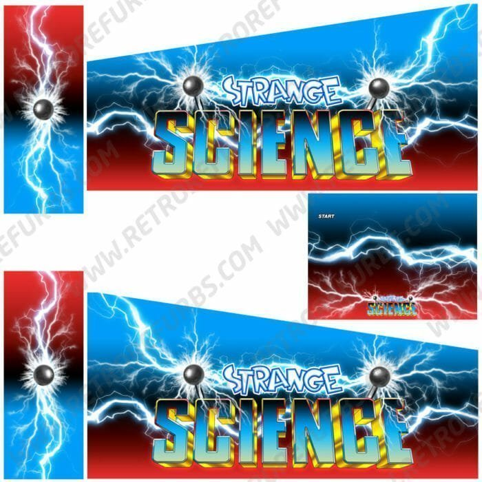 Strange Science Alternate Pinball Cabinet Decals Artwork Alternative Flipper Side Art