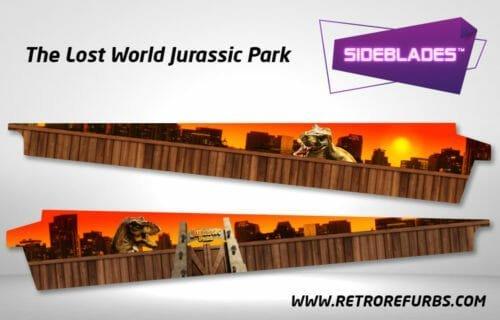 The Lost World Jurassic Park Pinball SideBlades Inner Inside Art Pin Blades Sega
